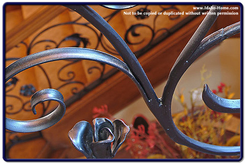 Wrought Iron with Custom Rose