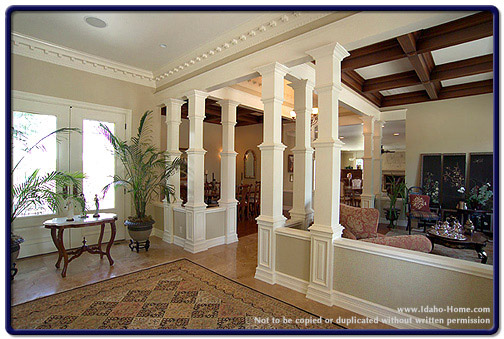 Living Room Designs With Pillars : Pillar in living room images corner design