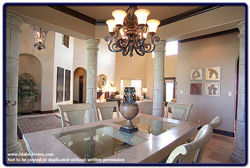 Living room with pillars builder idaho for Design pillars for living rooms