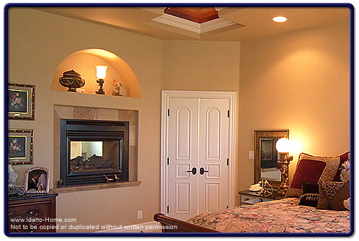 romantic and luxurious custom bedroom fireplaces