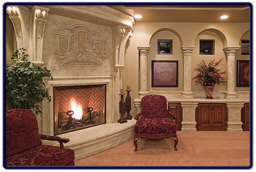 Custom Fireplaces With A Design