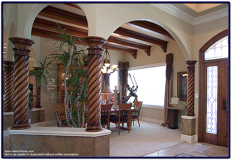 Designed Wood Columns And Ceiling Beams Pictures And