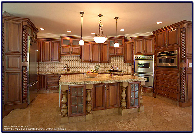 Large Custom Built Kitchen Pictured With Detailed