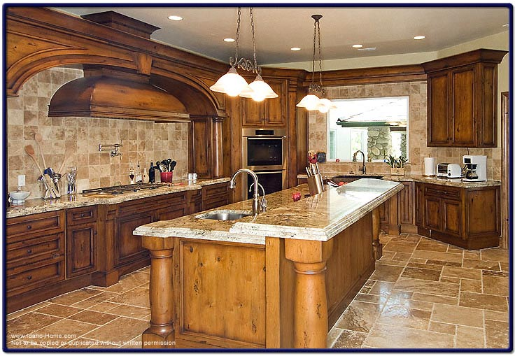 Large kitchen for a luxury home picture and information for Huge kitchen designs
