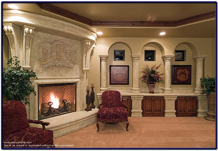 Custom Living Room Fireplace Picture And Information