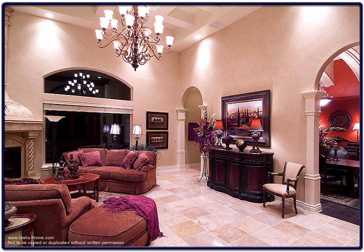 Picture of large living room with high ceilings tile - Large pictures for living room ...