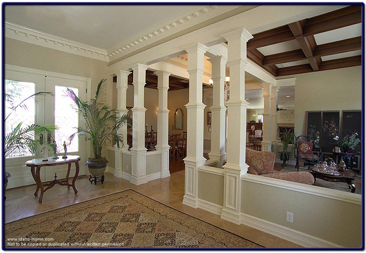 Wood pillars enhancing the interior of your home pictures for Columns in houses interior